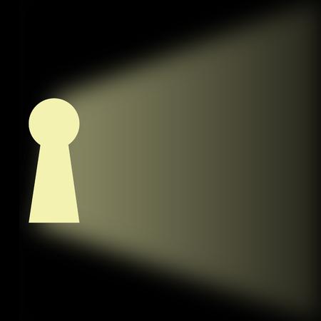 Keyhole secret with shining light