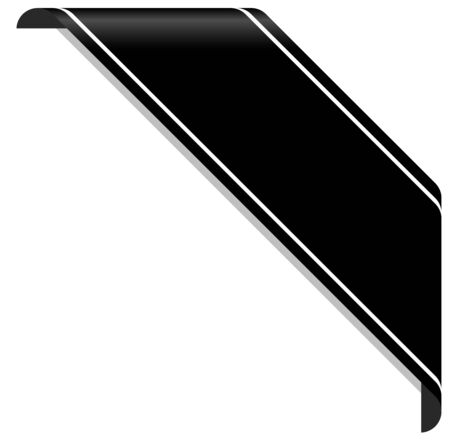 Illustration pour mourning concept with black awareness banner on white - image libre de droit