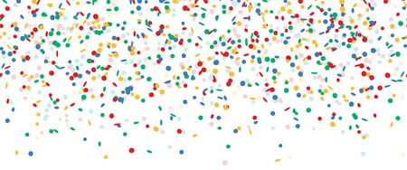 Illustration for colored falling confetti seamless background for carnival party - Royalty Free Image