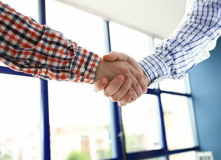 Photo pour Good job! Business People Meeting Discussion Corporate Handshake Concept - image libre de droit