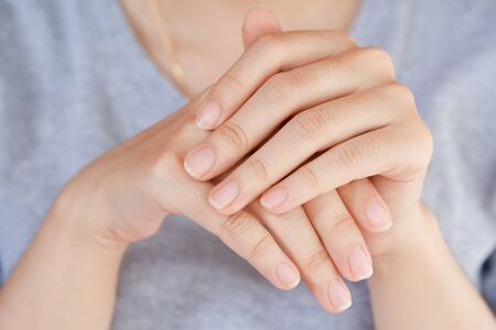 Photo for Close-Up fingernail of women, Concept of health care of the fingernail. - Royalty Free Image