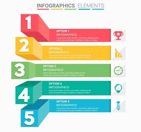 Illustration pour INFOGRAPHICS Business Staircase element design the number - image libre de droit