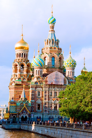 Church of Our Savior on Spilled Blood and Griboedova Canal. St. Petersburg, Russia.