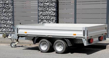Foto de new modern car trailer - Imagen libre de derechos