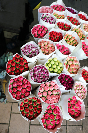 Hong Lok Street, Yau Tsim Mong District, Kowloon were more than 50 plant shops clustered close together for wholesale and retail of flowers and plants