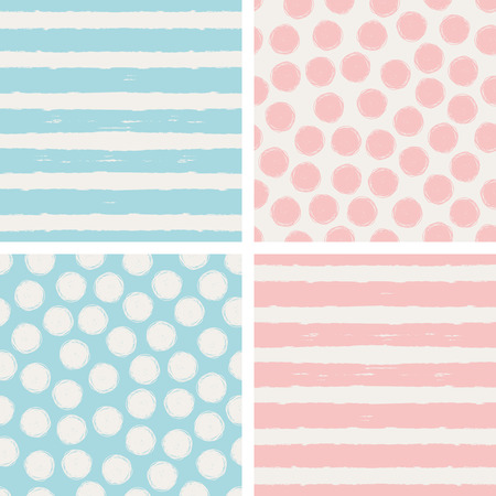 Illustration for set of seamless patterns - Royalty Free Image