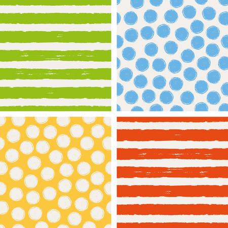Photo pour set of seamless patterns - image libre de droit