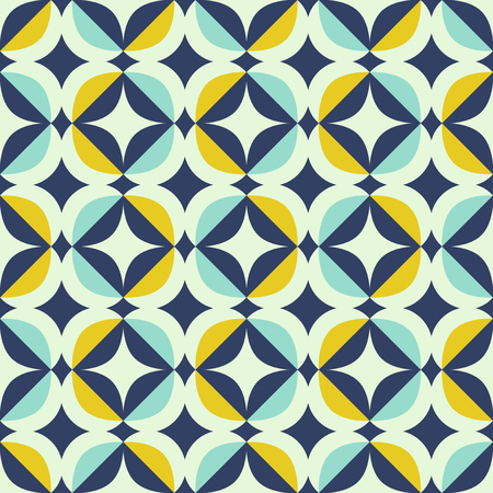 Illustration for seamless retro pattern in scandinavian style with geometric elements - Royalty Free Image
