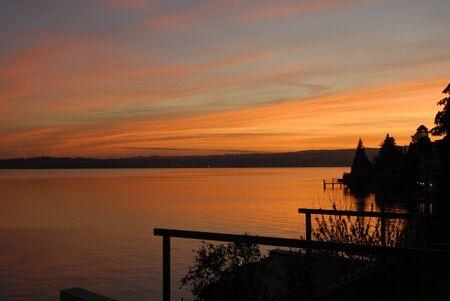 Romantic sunset on Lake Garda