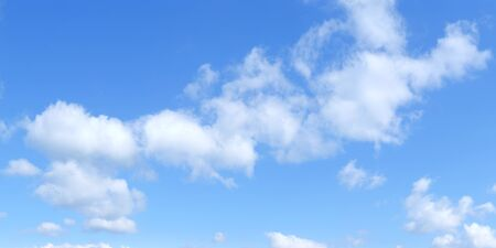 Photo pour Blue panoramic sky with cumulus of white clouds, HD - image libre de droit