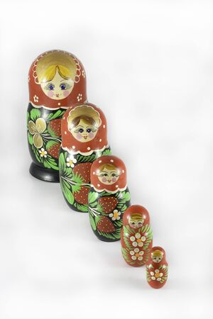 Photo pour Matryoshka dolls ordered from large to small - image libre de droit