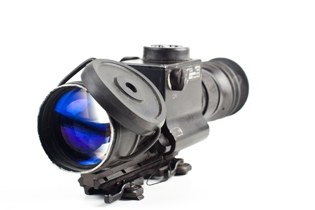 night vision sniper scope isolated on white background