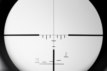 real sniper scope sight view
