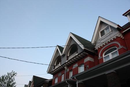 A home against a clear blue sky