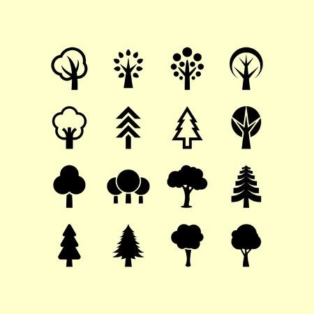 Ilustración de Trees icon set - Imagen libre de derechos