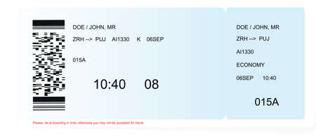 Illustration for Colored and realistic boarding pass ticket - Royalty Free Image