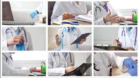 Photo pour Medical doctor in different situations - image libre de droit