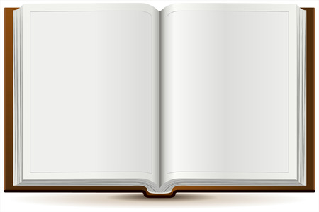 Illustration pour An open book in hardcover. Isolated illustration in vector format - image libre de droit