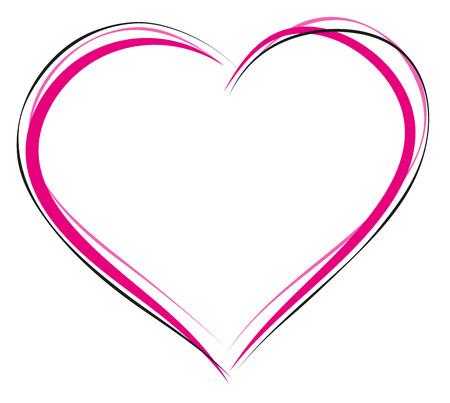 Illustration pour Heart symbol of love. Sign of heart outline. Illustration in vector format - image libre de droit