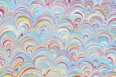 Turkish marbled paper artwork