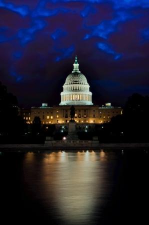 Washington DC, Capitol at night