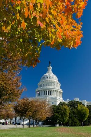 Washington DC, Capitol building in autumn