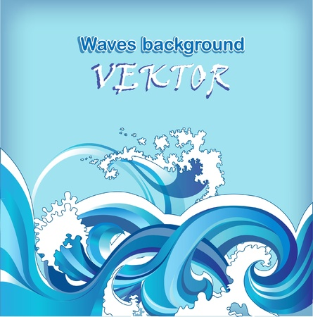 Abstract Background With Sea Waves Royalty Free Vector Graphics