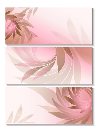 set - abstract background with pink petal