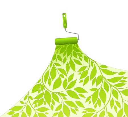 platen dyes surface green pattern floral