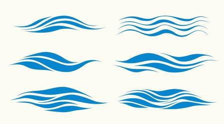 Ilustración de set vektor waves from element of the design - Imagen libre de derechos