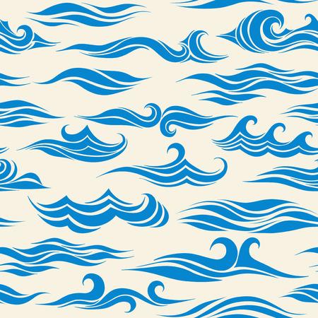Ilustración de seamless pattern waves from element of the design - Imagen libre de derechos