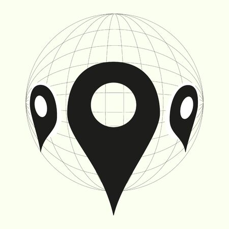 map, globe, place and map pin icon