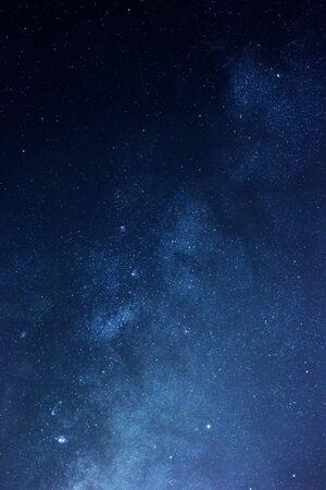 Milky way stars in the night sky