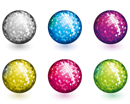 Color disco balls