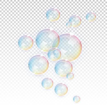 Bubbles transparent vector elements
