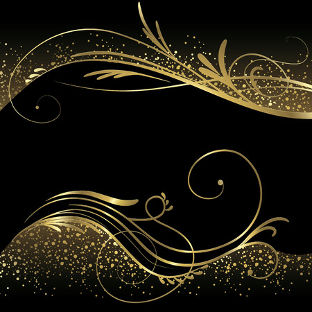 Illustration pour Black and gold background - image libre de droit