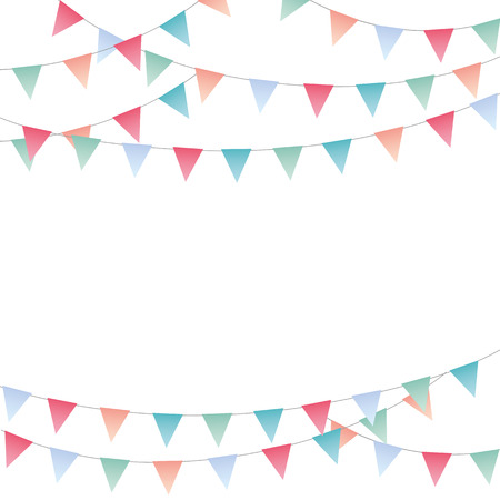 Illustration pour Sweet festive party pennants banner - image libre de droit