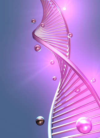 Conceptual chimestry scene - DNA structure - 3d render
