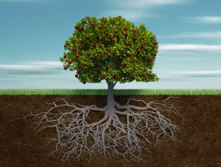 Fruiter - this is a 3d render illustration