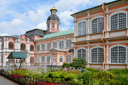 St. Petersburg, flower garden the Holy spirit the corps of Alexander Nevsky Lavra