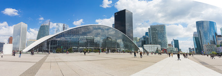 Paris, France - May 14, 2014: La Defense is a major business district of the Paris Metropolitan located in the commune of Courbevoie, and parts of Puteaux and Nanterre, just west of the city of Paris.