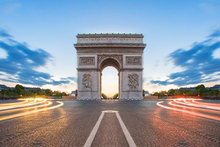 Arc de Triomphe in Paris, France.