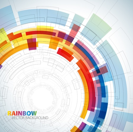 Illustration pour Abstract background with rainbow colors and place for your text - image libre de droit