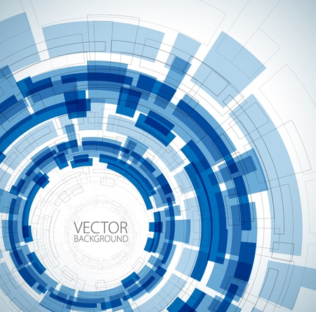 Illustration pour Abstract blue technical background with place for your text - image libre de droit