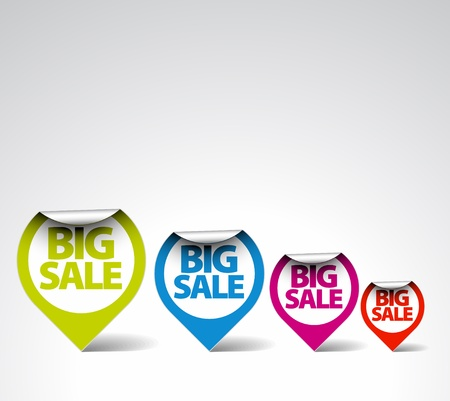 Colorful Round Labels / stickers for big sale
