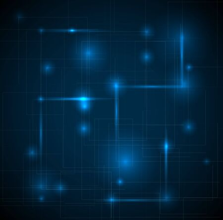 Illustration pour Abstract dark blue technical background with place for your text - image libre de droit