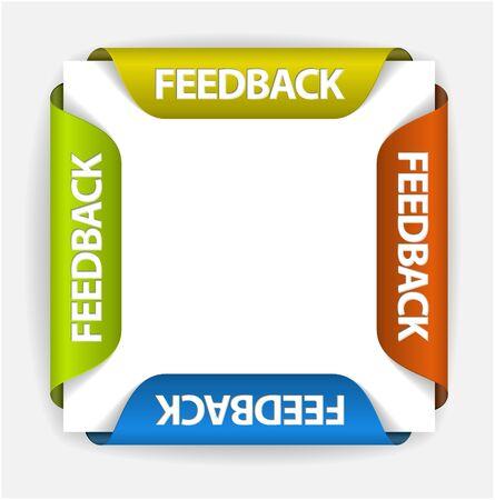 Illustration pour Feedback Labels / Stickers on the edge of the (web) page - image libre de droit