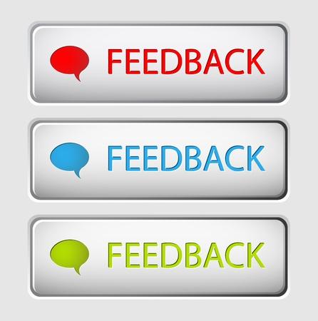 Illustration pour Set of three vector feedback buttons - image libre de droit