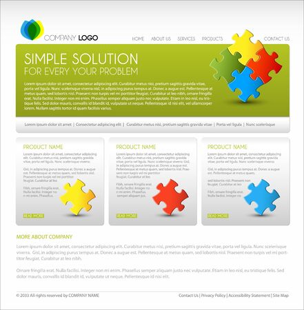 Vector Modern web page template - green version