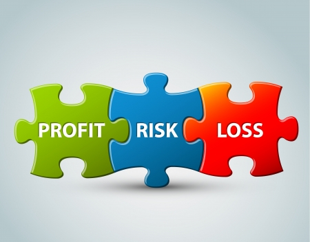 Illustration business model - profit, risk and loss